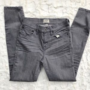 J.Crew • Lookout High Rise Grey Skinny Jeans
